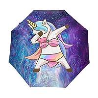 Umbrella Customize 3 Folds Starry Sky Princess Unicorn Windproof Auto Open Close Lightweight Anti-UV