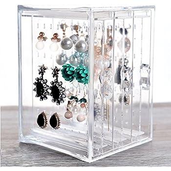 hqdeal foldable rangement bijoux porte bijoux stand de bijoux pour boucles d 39 oreilles goujons. Black Bedroom Furniture Sets. Home Design Ideas