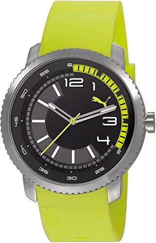 Puma Overdrive PU103291003 - Reloj analógico de cuarzo para hombre, correa de resina color verde