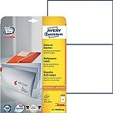 Avery Zweckform 6176 Universal-Etiketten (A4, Papier matt, 50 Etiketten, 210 x 148 mm) 25 Blatt weiß