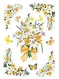 dpr. Fensterbild Set 10-tlg. Schmetterlinge Blumen Narzissen Blüten Fenstersticker Fensterdeko