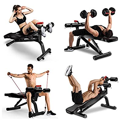 YOLEO Adjustable Weight Bench - Foldable Workout Bench for Home Gym, Incline/Decline/perfect for Bench Press, Upper Abs Workout, Sit up, Leg Lifts, Full Body Fitness from YOLEO