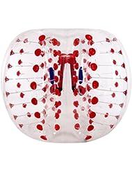 Voberry® 1,5m abrazadera balón de fútbol hinchable de goma parachoques cuerpo humano burbuja balón de fútbol, hombre mujer, Color-C