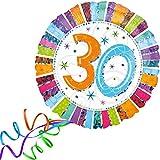 Folienballon 30 GLITZER XXL 45cm, mit Helium gefüllter Luftballon zum Geburtstag + PORTOFREI + Geschenkkarte. High Quality Premium Ballons vom Luftballonprofi & deutschen Heliumballon Experten. Tolle Luftballon Geschenkidee zum Geburtstag und Ballon Deko zum Geburtstag