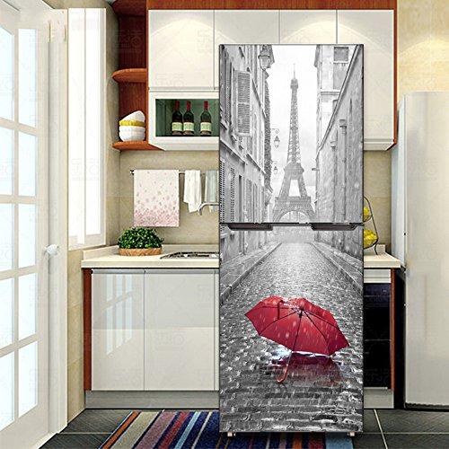 3D rotto vetreria autoadesivo adesivo frigorifero zer adesivi bambini arte frigorifero coperchio carta da parati j3 60x180cm
