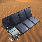 SUNKINGDOM 39W Solar Ladegerät (18 V DC bis 5V USB Dual Ausgang Ladegerät) für Laptop, Akku, Netz Bank, iPad, iPhone und mehr - 4