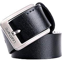 Zolimx Hombres Cinturón de Cuero Correa Cinturones de Piel Diseñado para caballero RPDyKLK5