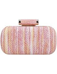 Bonjanvye Beautiful Snake Pattern Clutch Purses for Women Dress Handbags