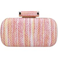 Bonjanvye Beautiful Snake Pattern Clutch Purses for Women Dress Handbags