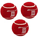 Speed Up Heavy Weight Cricket Tennis Balls Solid Core - 2681 | Cricket Ball 3 Pc | Red Colour