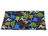 Fitzibiz Körnerkissen Dinos aus 100% Baumwolle und Kirschkernfüllung, Dinodruck 39x20cm (Raps-, Weizen- oder Kirschkernfüllung)