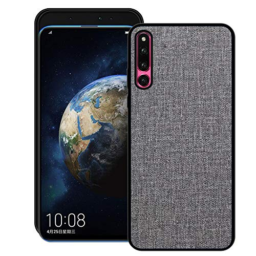 Aidinar Huawei Honor Magic 2 Hülle,Stoff PU Rückendeckel All-Inclusive Bruchsichere Hartschale mit Silikonkante für Huawei Honor Magic 2(Grau)