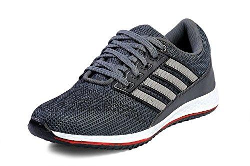 Rockstar Men's Running Sports Shoes (8, grey)