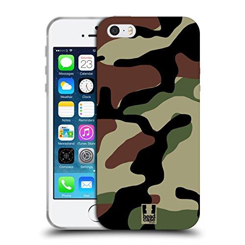 Head Case Designs Bosco Fantasia Militare Cover Morbida In Gel Per iPhone 5 iPhone 5s iPhone SE