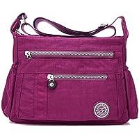 Loisirs Femmes Étanche Nylon Messenger Sacs Cross Body Sacs à bandoulière Casual Multi Pocket Sac à main fourre-tout sac à main