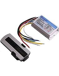 4Canal Inalámbrico Digital Interruptor de control remoto 220V blanco transmisor Interruptor para lámpara y luz