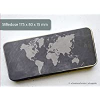 Stiftedose Stiftebox Tafellook Weltkarte