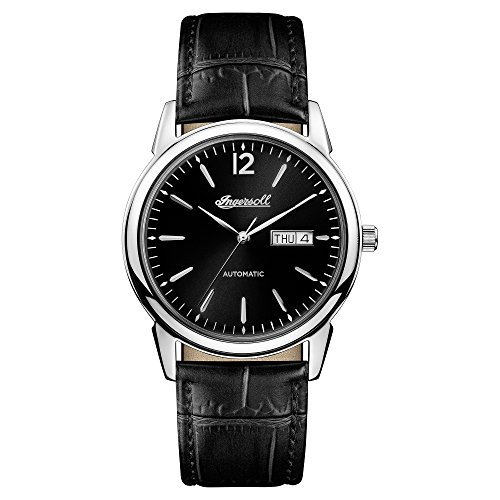 Ingersoll Men's The New Haven Automatic Watch with Black Dial and Black Leather Strap I00502