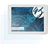 Bruni Schutzfolie für Xoro TelePad 9730 (XOR400560) Folie - 2 x glasklare Displayschutzfolie