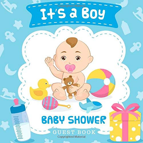 It's a Boy! Baby Shower Guest Book: Baby Boy His Toys Glossy Cover, Interior Cream Color Paper, 120 Pages, Place for a Photo, Sign in book Advice for ... for a Baby Bonus Gift Log Keepsake Pages (Tutu Oh)
