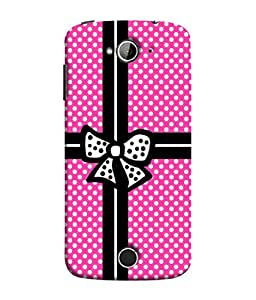 FUSON Designer Back Case Cover for Acer Liquid Z530 :: Acer Liquid Zade Z530S (Red And Black With Ribbon Gift Presents Wrapping)