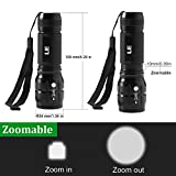 LE Adjustable Focus LED Torch,Super Bright Zoomable LED Flashlight, Batteries Included Bild 4