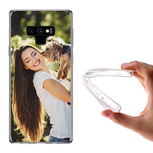 Funda Personalizada Samsung Galaxy Note 2 3 NEO (Lite) 4 5 7 8 9 Note Edge S Duos / 2 S2 S3 / Mini S4 / Mini S5 / Mini / NEO S6/ Edge / Plus S7 / Edge S8 / Plus S9 / Plus Trend / Plus Y 2 con la Foto y el Texto Que Quieras (Samsung Galaxy Note 9)