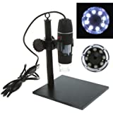 KKmoon Microscopio Digital Endoscopio Lupa 500X 8 LED USB