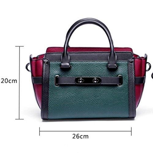 Frau Umhängetasche aus echtem Leder Platin Handtasche High-End-schrägen Beutel 4