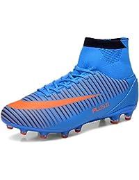 WOWEI Zapatos de Fútbol Spike Aire Libre Profesionales Atletismo Training Botas de Fútbol Adolescentes Adultos Zapatos de Deporte