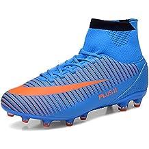 9a58eed61e7e8 WOWEI Zapatos de Fútbol Spike Aire Libre Profesionales Atletismo Training  Botas de Fútbol Adolescentes Adultos Zapatos