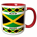 3dRose Flagge Jamaica-Two Ton Tasse, Keramik, rot, 10,2x 7,62x 9,52cm