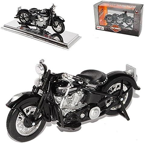 harley Davidson 1948 Fl Panhead Schwarz 1/18 Maisto Modellmotorrad Modell Motorrad