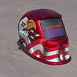 Hanbaili Schweißhelm, (polnischen Adler) Solar Power Auto Tig Mig Schweißnaht Schweißer Schweißer Arc Helm Maske Protector