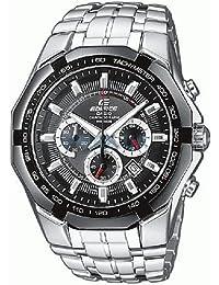 CASIO Edifice EF-540D-1AVEF - Reloj de cuarzo con correa de acero inoxidable para hombre, color plateado