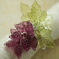 &zhou Portatovagliolo,foglia con anello di tovagliolo uva