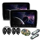 XTRONS� 2 x 10.1 Inch Twins HD Digital Screen Car Auto Headrest DVD Player IR Headphones Included