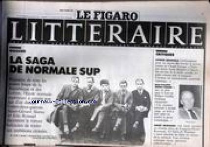 FIGARO LITTERAIRE (LE) [No 13717] du 04/10/1988 - LA SAGa DE NORMALE SUP - A.G. SLAMA ET E. ROUSSEL RACONTENT - P. GRAINVILLE - J.PH. ARROU-VIGNOD - A. BRINCOURT.