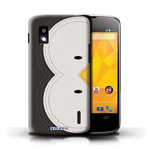 Kobalt® Imprimé Etui / Coque pour LG Nexus 4/E960 / Chien conception / Série Cousu des Animaux Effet Manchot