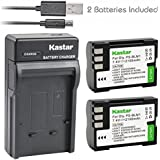 Kastar Camera Batteries (Pack Of 2) With Slim USB Charger For Olympus BLM-1