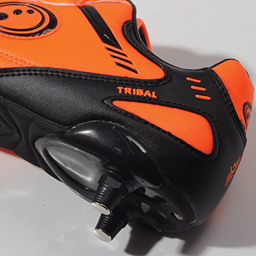 Optimum Tribal Boot-Velcro 6 Stud, Chaussures de Football Gar&CcedilOns Orange - Orange (Fluro Orange/Black)