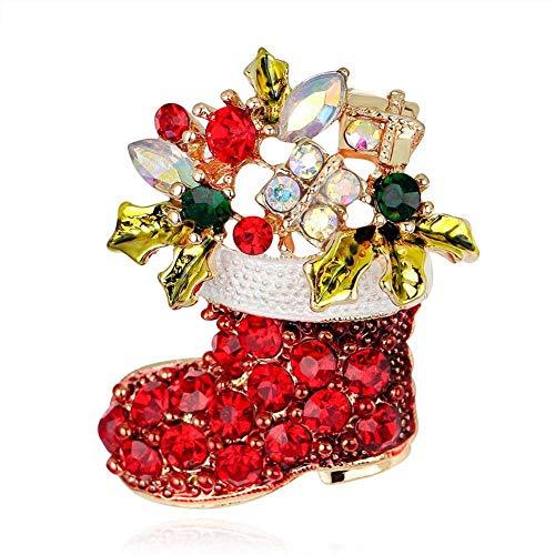 Moda spille,natale serie ornamento stivali spilla spilla spilla decorazione natalizia- babbo/natale alce/calza di natale