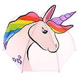 Regenschirm für Kinder UNICORN pink - süßes Einhornmotiv!
