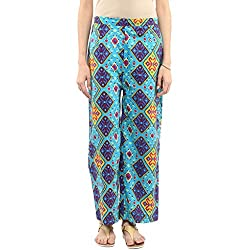 Pannkh Women Women Printed Straight Fit Palazzo
