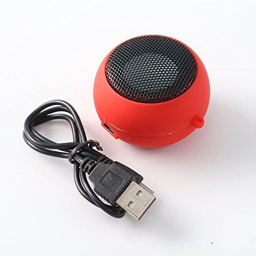 Leaftree - Haut-Parleur Ultra Ultra Portable, amplificateur de Haut-Parleur pour téléphone avec Son Haute définition pour iPad, Tablette iPod MP3 MP4, Rouge