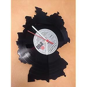 Wanduhr Uhr Skyline Deutschland Silhouette Chronometer aus original Vinyl Schallplatte Upcycling Design Uhr Wand-Deko Wand-Dekoration