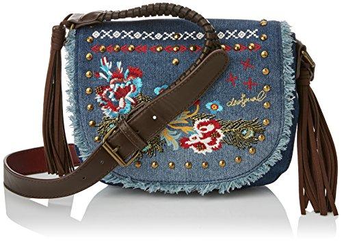 Desigual Damen Bols_varsovia Jade. 5006. U Umhängetasche, Blau (Navy), 5x18x13.5 cm (Jeans-handtasche)