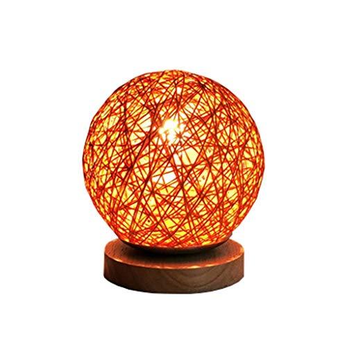 Blanc Orange Bleu Lampe De Table Tissée Salon Chambre Lampe De Chevet Simple Moderne Créative