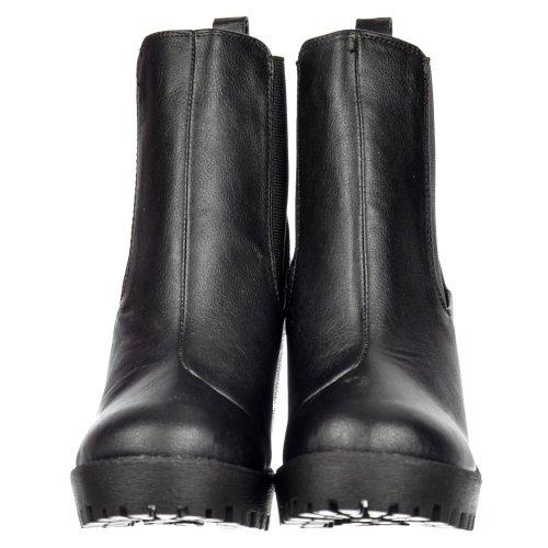Onlineshoe Damen Rihanna Klassische Chelsea Stiefel Schwarz