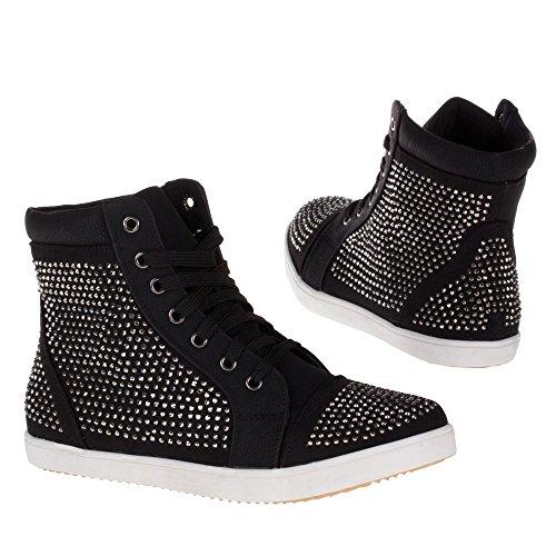 Damen Schuhe, FREIZEITSCHUHE BOOTS BOOTIES Schwarz BL1593-
